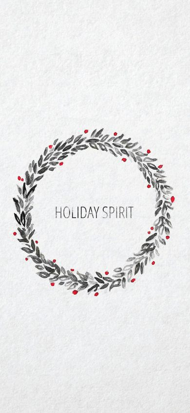 spirit minimal christmas iphone x wallpaper
