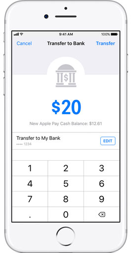 transfer money to bank account from apple pay cash