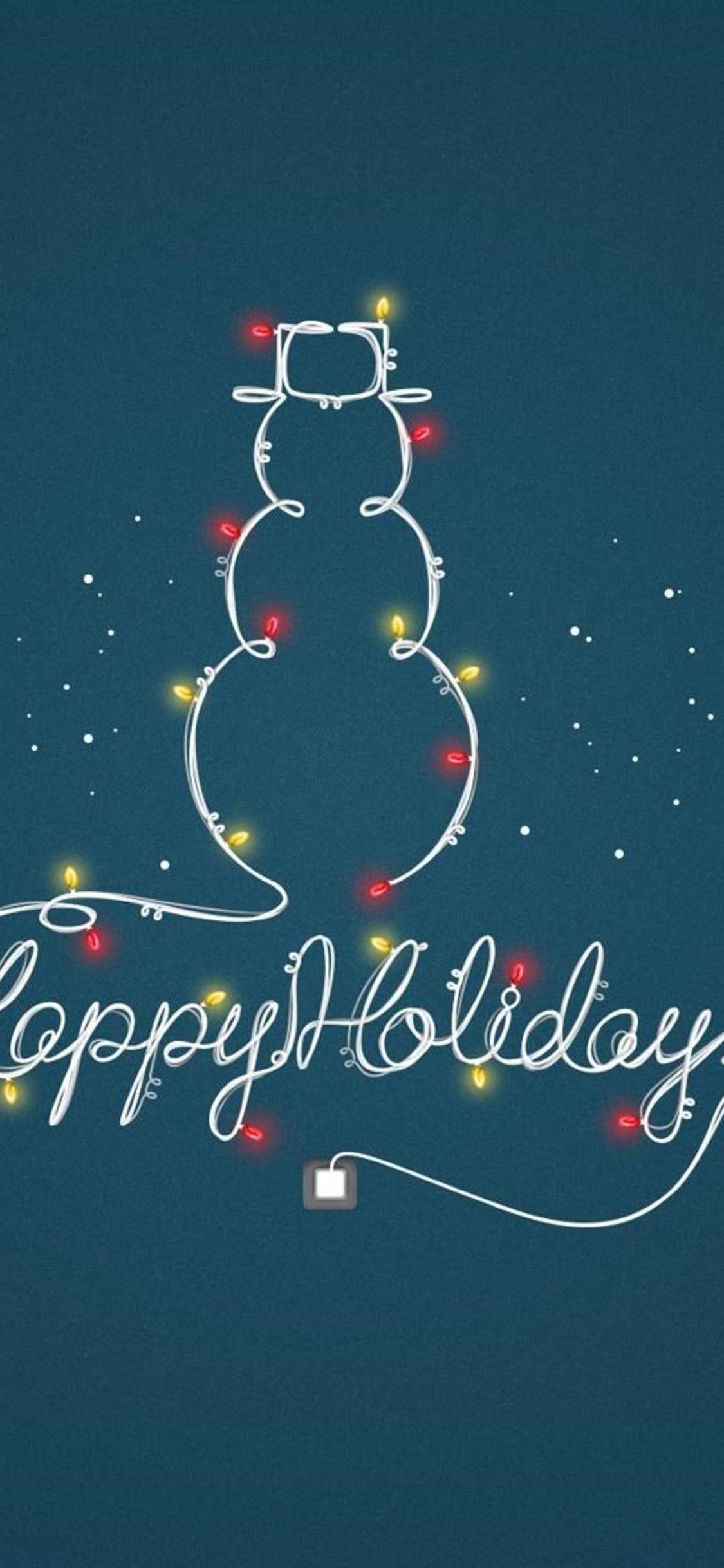 Wallpaper Happy Holidays 1125x2436. Download