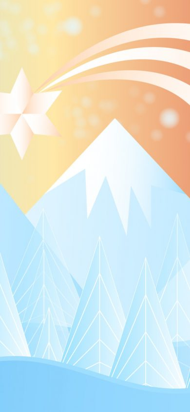 winter snow christmas mountains minimalism 7r 1125x2436