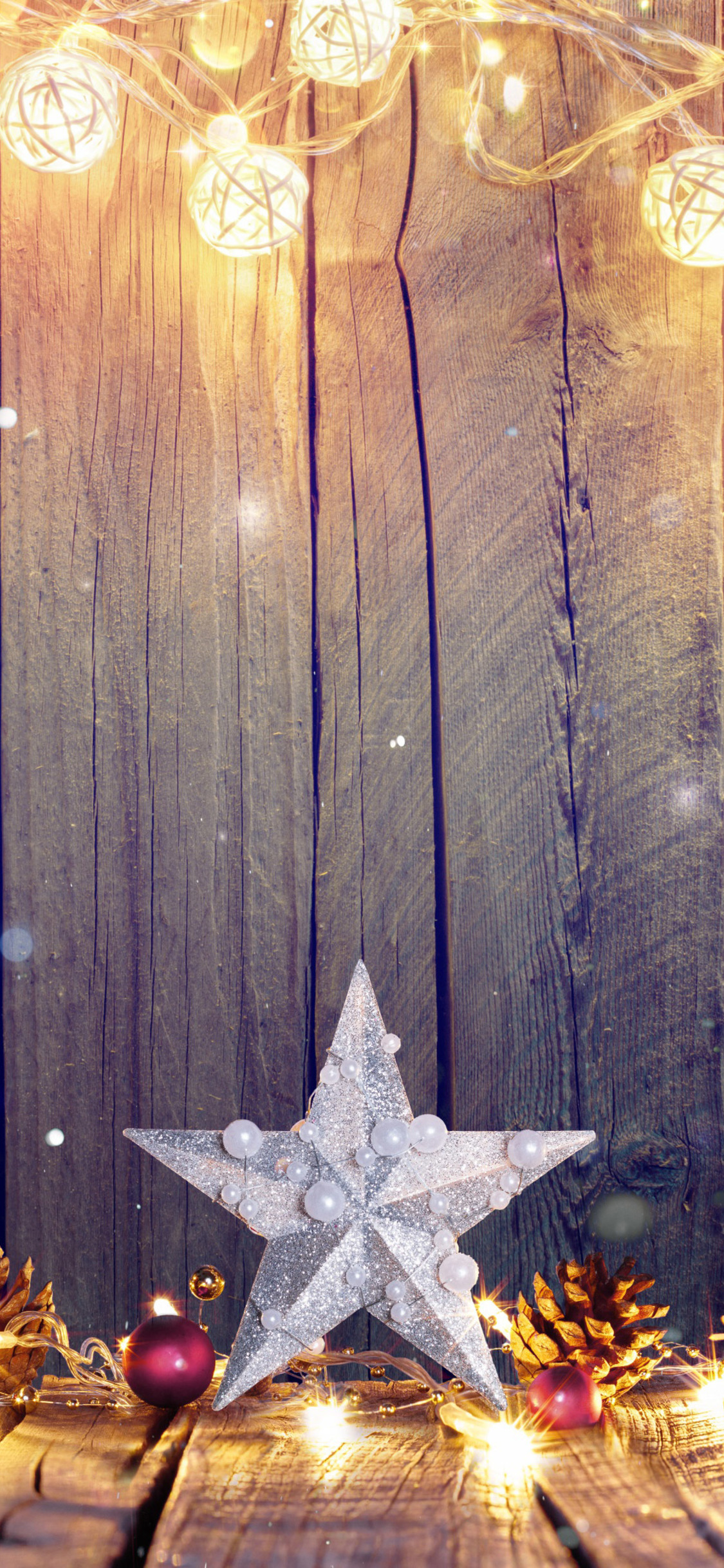 wooden christmas wallpaper for iPhone