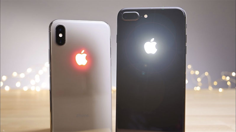 glow apple logo iphone x