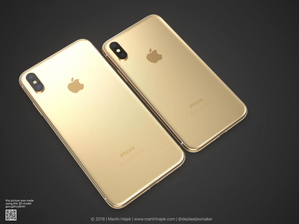 iphone x gold concept