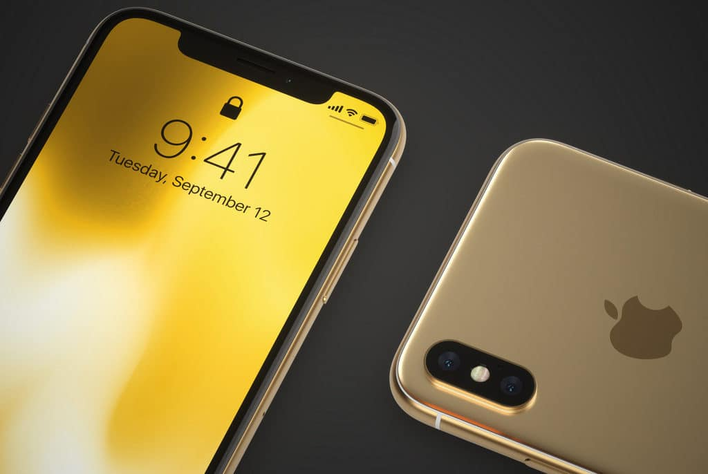 iphone x gold concept hero