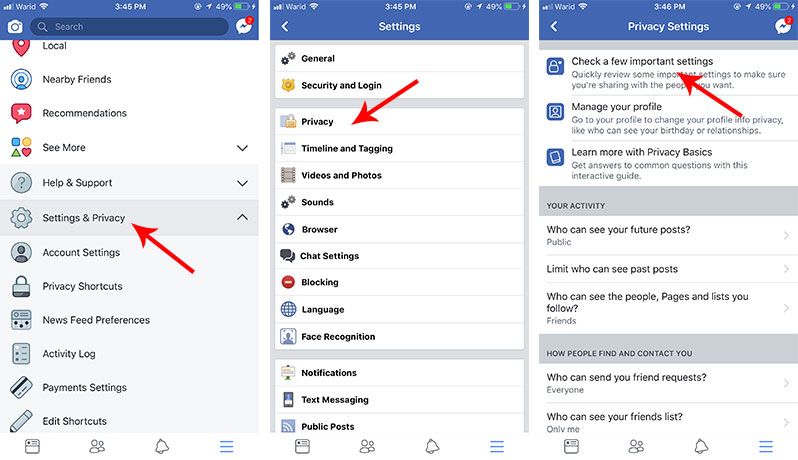 quickly remove facebook apps