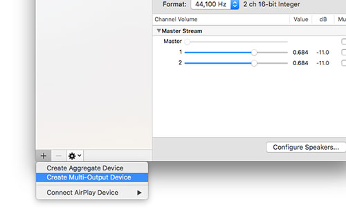 create multiple output device in mac