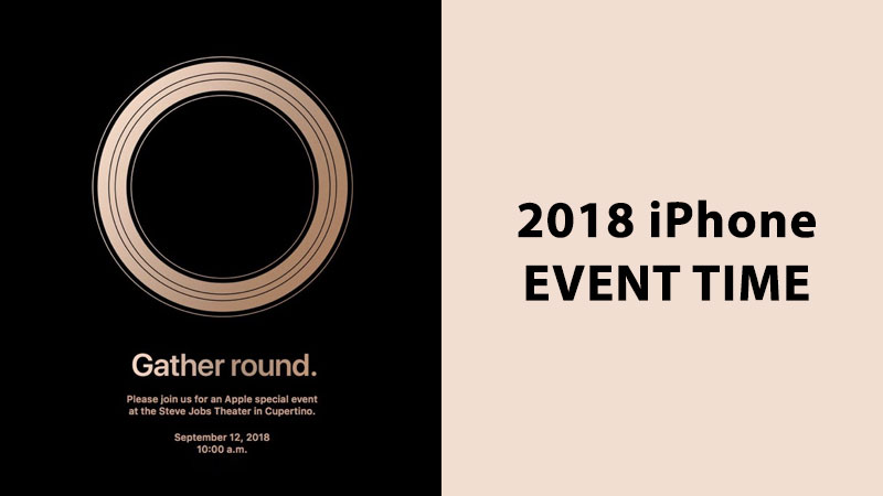 2018 iphone event time