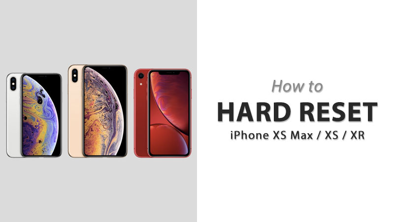 hard reset iphone xs