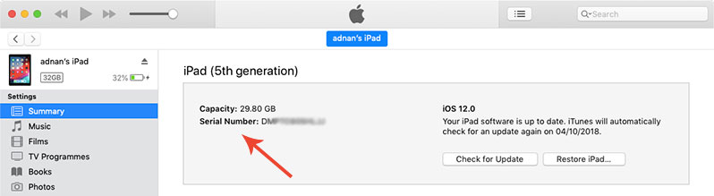 how to find iphone udid using itunes