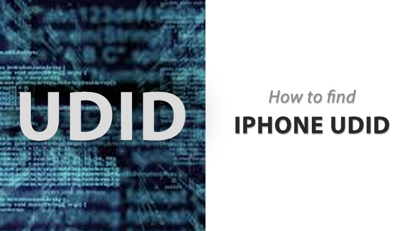 how to find iphone udid