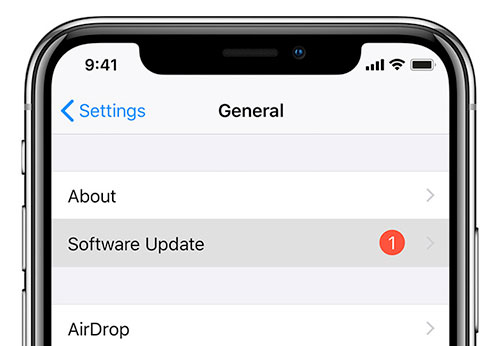 install ios update