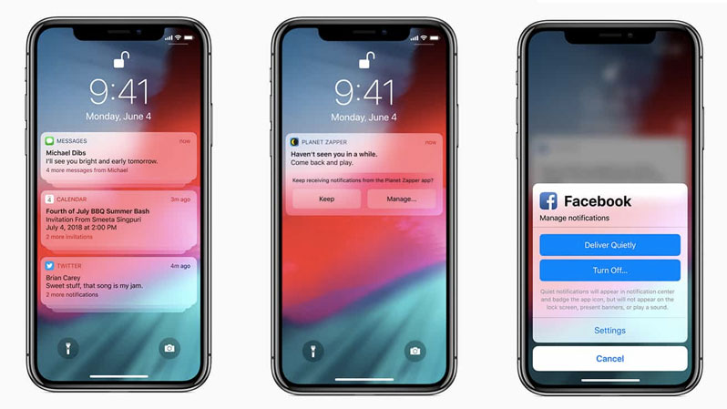 ios 12 group notifications feature