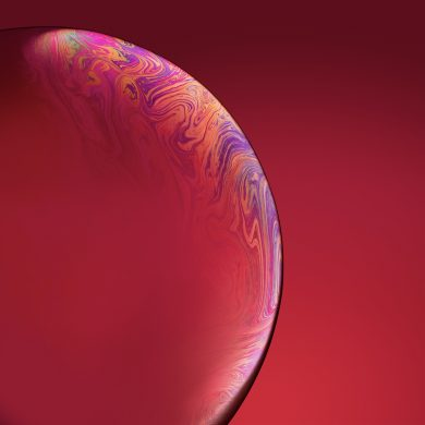 iphone xr wallpaper Bubble Red