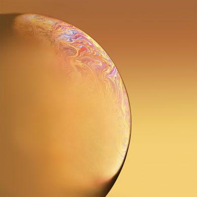 iphone xr wallpaper Bubble Yellow