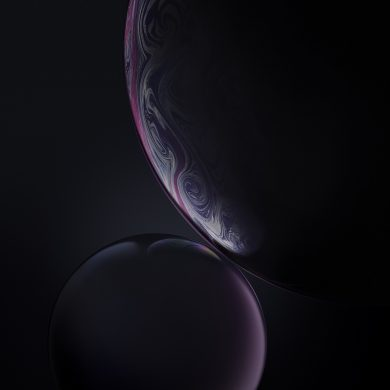 iphone xr wallpaper DoubleBubble Gray