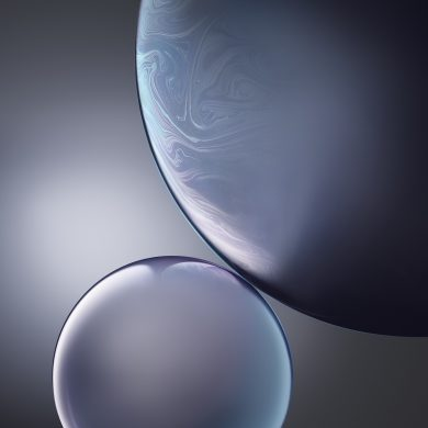 iphone xr wallpaper DoubleBubble White