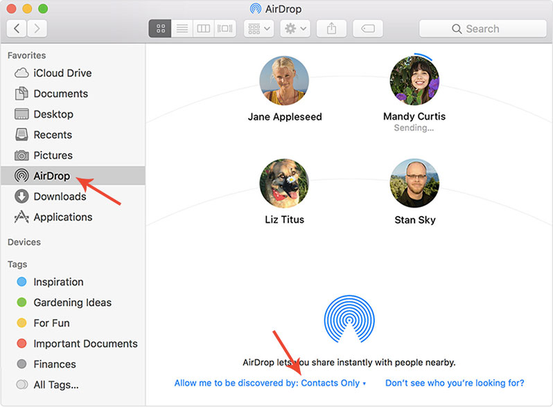 transfer files from mac to iphone using AirDrop