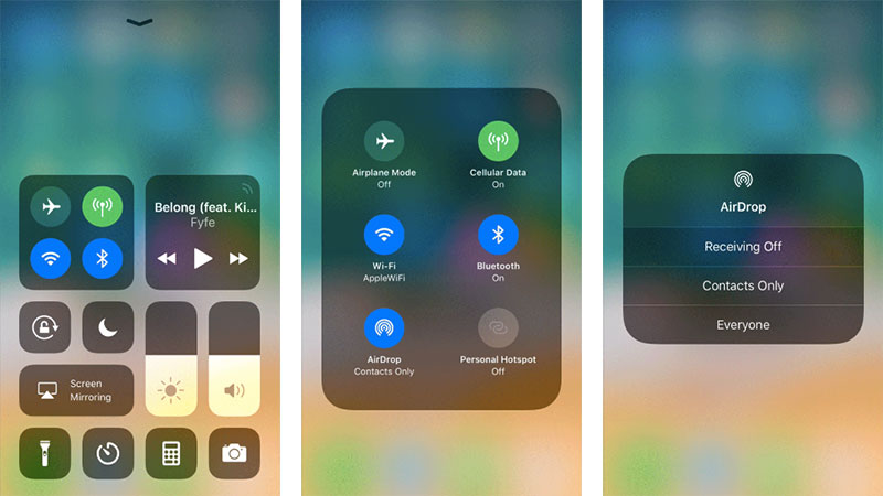 How to turn on airdrop on iphone and ipad