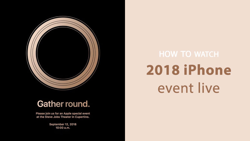 watch iphone 2018 event live online
