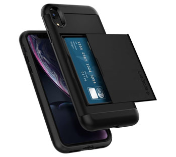 Spigen Slim Armor wallet case for iPhone XR
