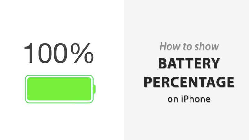 how to show battery percentage on iphone xs