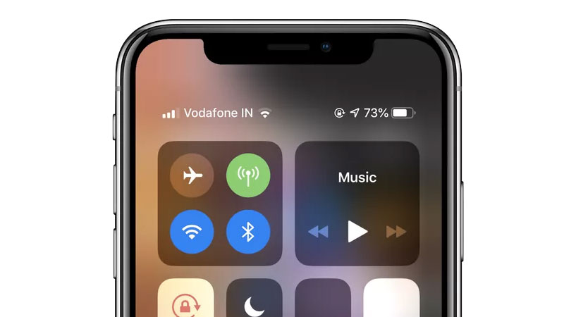how to show battery percentage on iphone XS Max