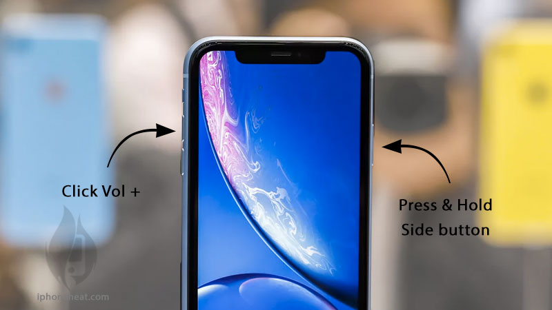 how to take screen shot on iphone xs max xr