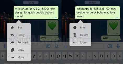 whatsapp quick action menu new