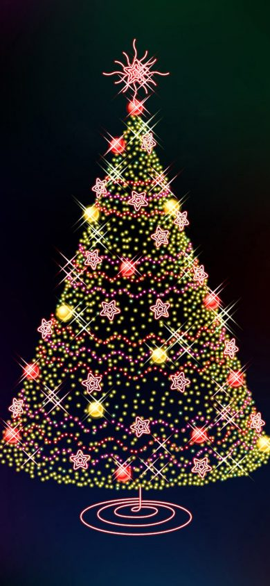 Christmas Tree iPhone XR Wallpaper