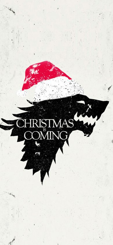 Free christmas is coming wallpaper for iPhone XR Download