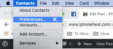 how to sort contacts by first name on mac