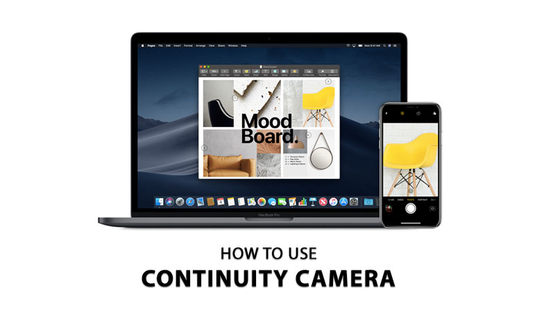 how to use continuity camera on macOS and iPhone