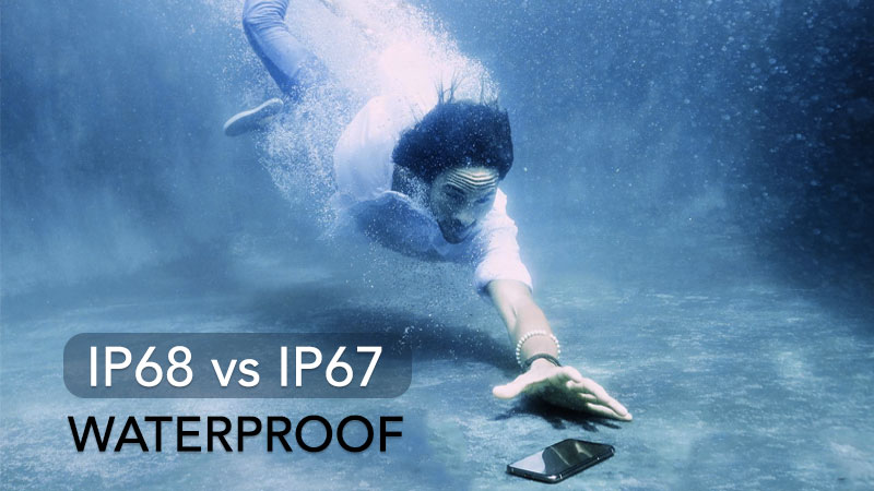 ip68 vs ip67 waterproof rating differences