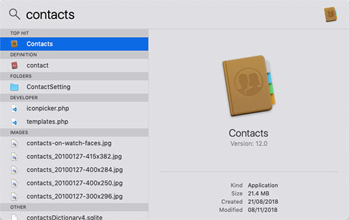 sort contacts by first name on mac
