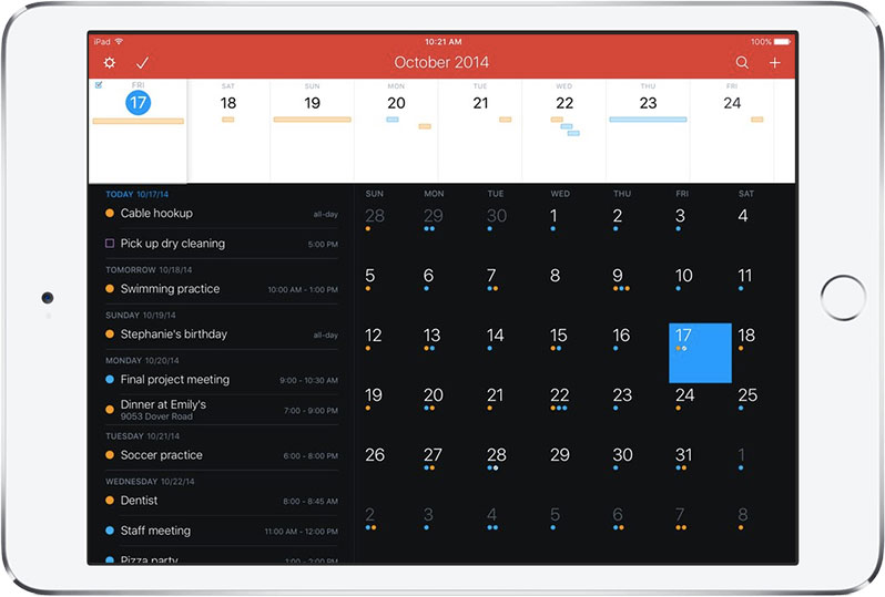 fantastical 2 best ipad app