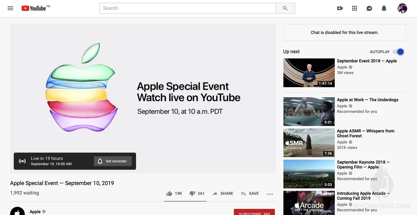 Watch apple event on youtube