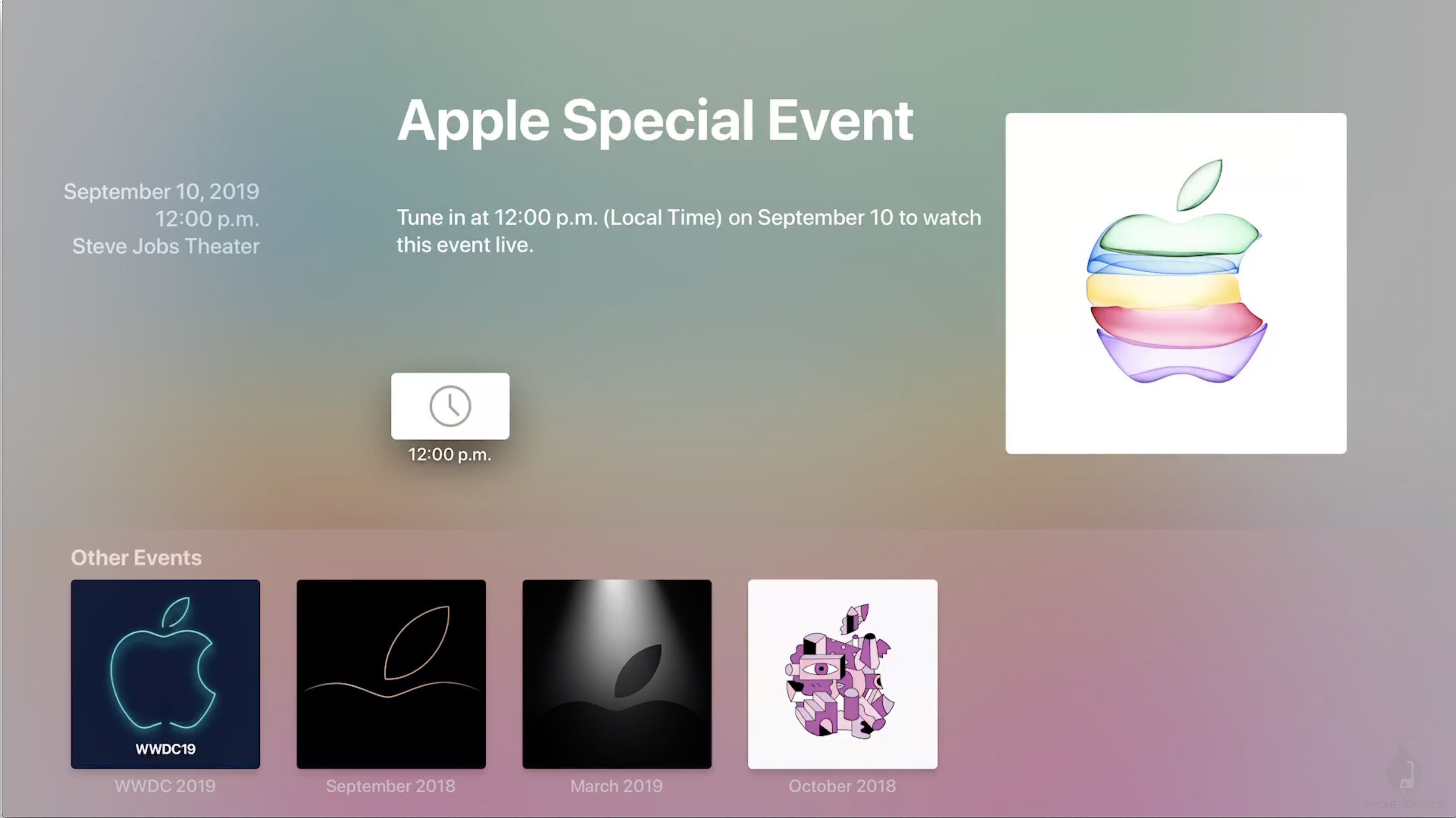 watch apple event on apple tv