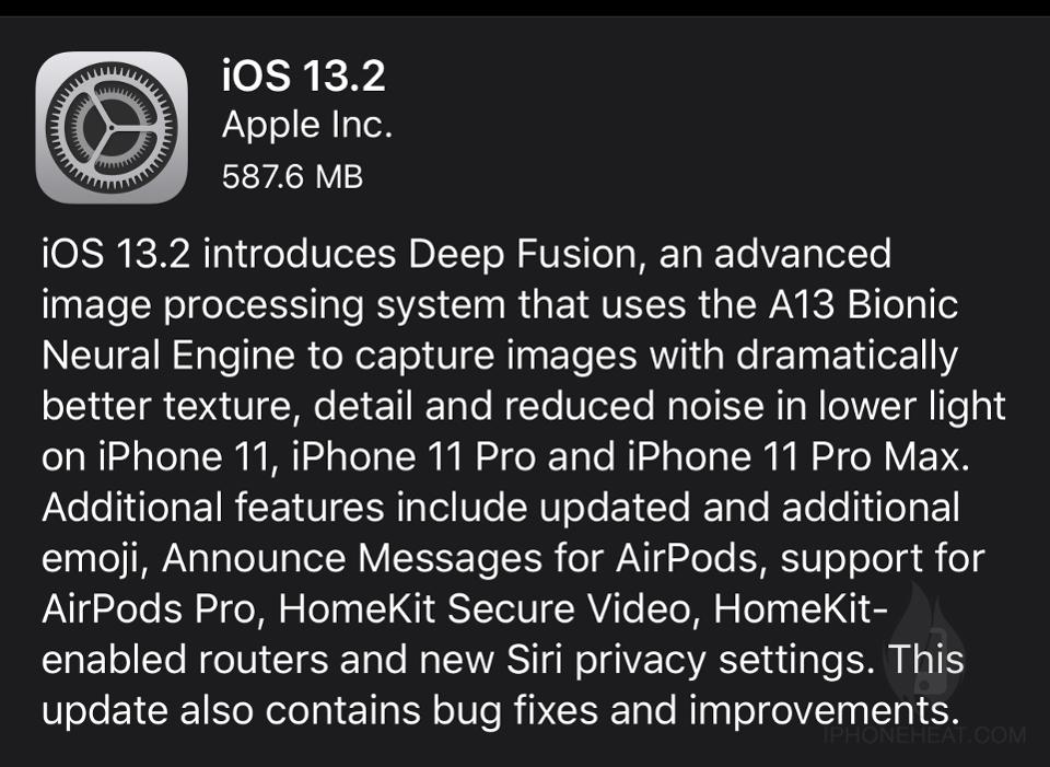 ios 13.2 update